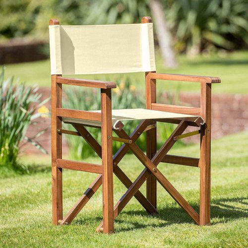 Plant Theatre Super Sturdy Director's Chair in Warm Beige