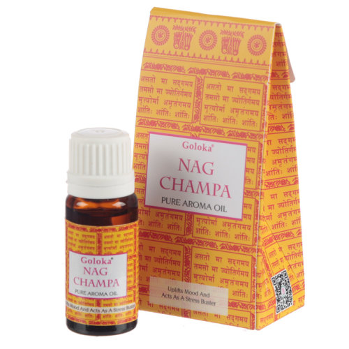 Goloka Fragrance Aroma Oils - Nag Champa - Set of 12