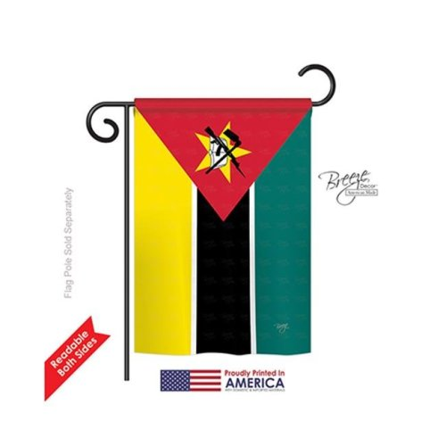 Breeze Decor 58287 Mozambique 2-Sided Impression Garden Flag - 13 x 18.5 in.