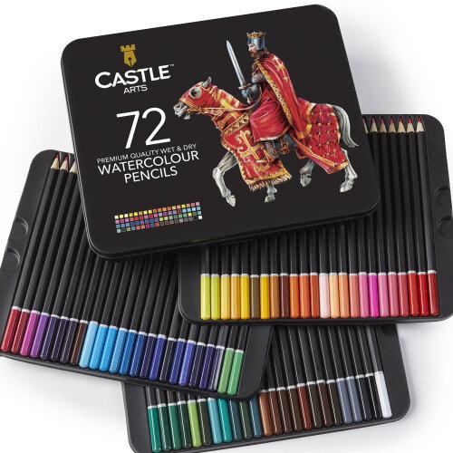 Castle Arts Watercolour Pencil Set - 72-Piece | Watercolour Pencils