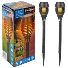 Plastic Solar Powered 12 LED Garden Light Lamp