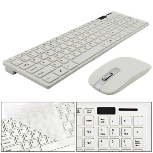 Slim X300 2.4Ghz Full-Size Ergonomic Wireless Keyboard and Mouse Combo