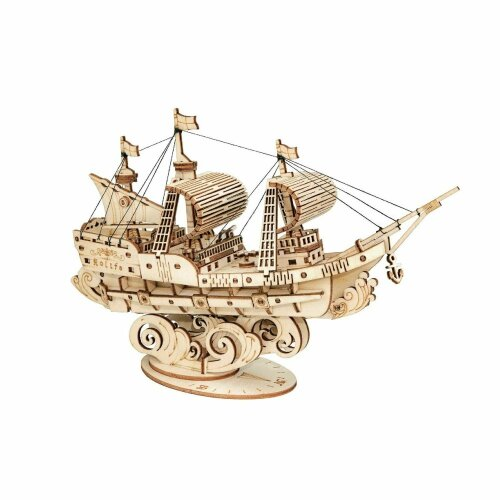 New 3D Sailing Ship Classical Wooden Puzzle - UK Stock