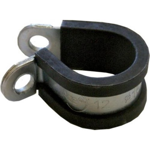 Boltstore P Clips Rubber Lined Hose Pipe Clamp Cable Zinc Plated Steel