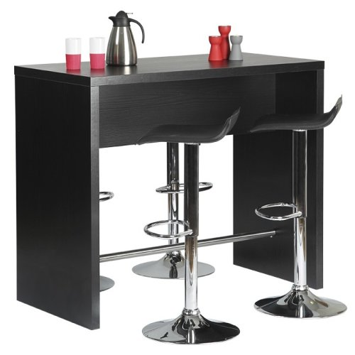 Kitchen Breakfast Bar Table in Black or White Dining Furniture