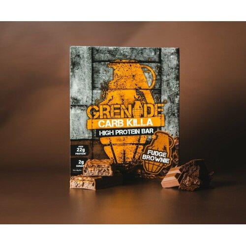 (Fudge Brownie) Grenade Carb Killa Protein Bar, 12 x 60 g
