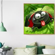 30*30CM DIY 5D Full Diamonds Plated Ladybug Pattern Embroidery Painting