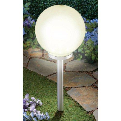 GEEZY Warm White LED Garden Globe Solar Lantern