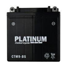 PLATINUM Motorcycle MF AGM Battery 12V - 9Ah - 110CCA [CTM9-BS]