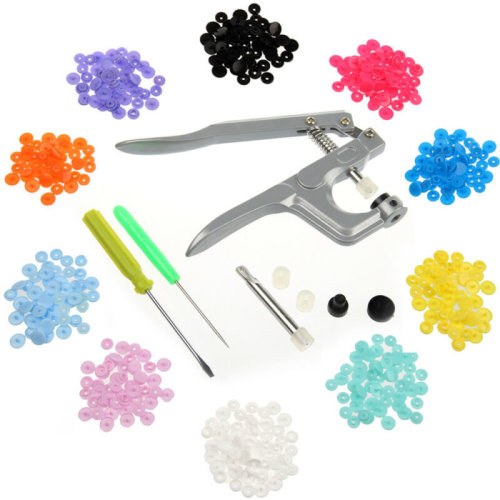 200 Pcs Nice Sets T5 Press Poppers Resin Snaps Fasteners&Pliers Tool