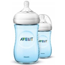 Philips Avent Natural Baby Bottles 260ml (Blue Twin Pack)
