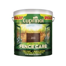 Cuprinol LMFCRB6L 6 Litre Less Mess Fence Care - Rustic Brown