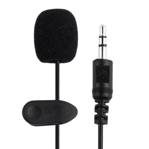 Mini Microphone Hands Free Wired Condenser Mic For Phone Laptop