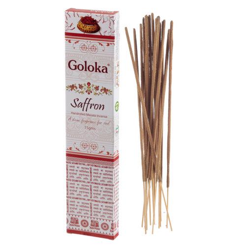 Goloka Masala Incense Sticks - Saffron - Set of 12