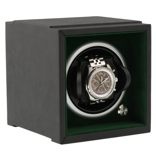 Watch Winder Larger Wrist Sizes Soft Touch with Green Inner by Aevitas