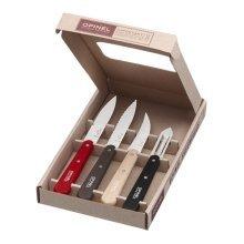OPINEL Loft kitchen knife set - Coloured handles - 4 piece gift set