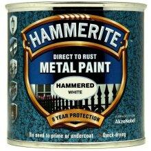 Hammerite Direct To Rust Metal Paint - White 250ML Quick Drying