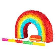 Fax Potato Colourful Rainbow Pinata - 53cm