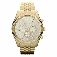 Michael Kors Lexington Men's Watch¦Gold Case Chrono Dial¦Bracelet Strap¦MK8281