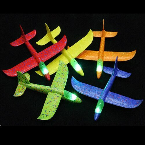 Hand Throw Flying Glider luminous Planes Toys For Children - Foam  Air plane Model Fillers Glow In The Dark Plane Toy