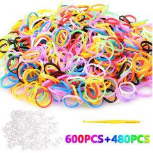 Hosung Loom Bands ,1080+ Rainbow Rubber Bands Twist Loom Set?Children's DIY Loom ?DIY Rubber Band is the Best Choice for Children.