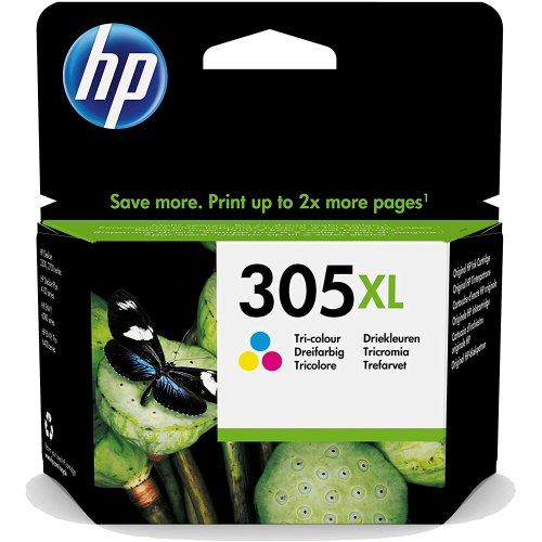 HP 305XL Tri-Colour Ink Cartridge High Yield Original 3YM63AE