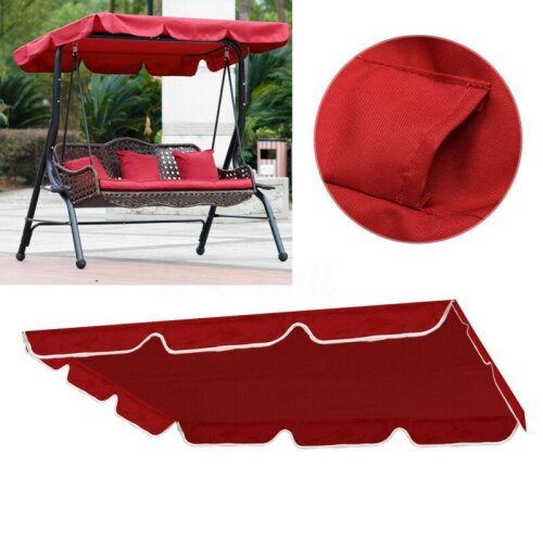 Red Outdoor Patio Porch Swing Hammock Bench Canopy Garden Top Cover  (Cover ONLY, No Shelves)