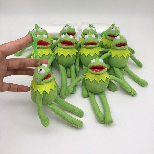 Kermit the Frog Mini Plush Doll Toy Keychain Pendant