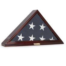 Bey-Berk International WD100 Flag Display Case for Memorial 5 x 9.5 ft. Flag & Wall Mountable - Brown