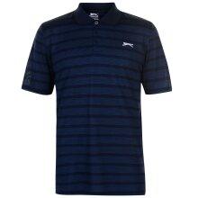 Slazenger Mens Stripe Polo Shirt Collared Neckline Blouse Buttoned Top