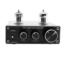 NFJ&FX-Audio TUBE-03 MINI Bile Preamp Tube Amplifier Buffer HIFI Audio Preamplifier Treble Bass Adjustment Pre-amps DC12V Power Plug