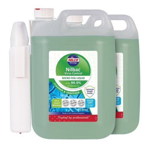 Nilco Nilbac® Virus Control Micro Fog Liquid 5L x 2 Plus a Battery Powered Sprayer…