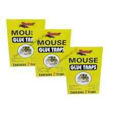 6 X  Mouse Glue Traps Sticky Pads Traps Boards