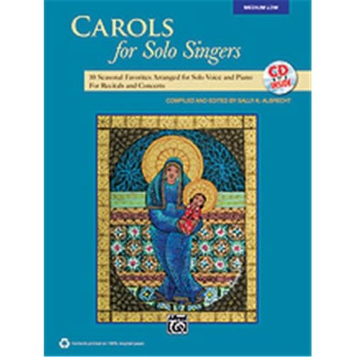 Alfred 00-35534 CAROLS FOR SOLO SINGERS-LO-BK&CD