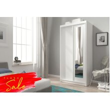 Wardrobe 100cm width Sliding Mirrored Doors