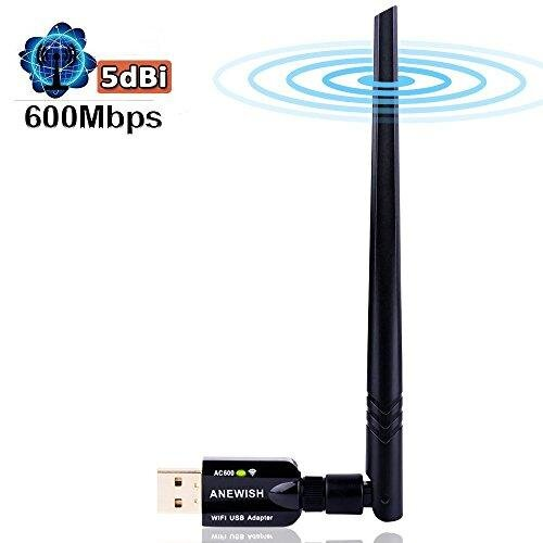 USB Wifi Dongles AC600mbps USB 3.0 Wifi Adapter Dual Band 5GHz/2.4GHz 802.11ac Wireless Adapter with 5dBi Network Antenna for PC Desktop Laptop,Supp