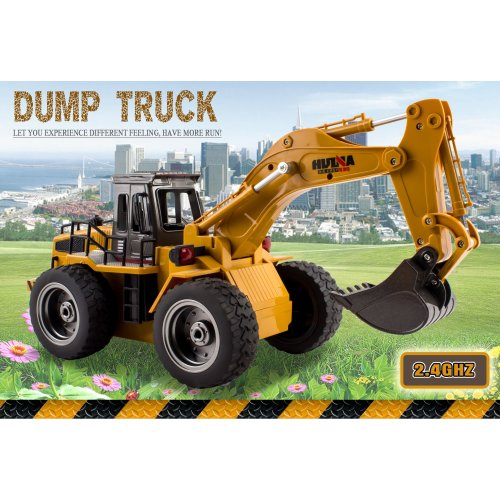 (Excavator/digger) deAO 2.4Ghz Remote Control 6 Channel Full Functional Excavator Digger with Lights & Sounds Included