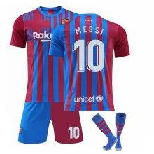 Messi #10 Barcelona Home 2019/2020 Season Sport T-Shirts & Shorts Soccer Jersey Kit for Kids Teens