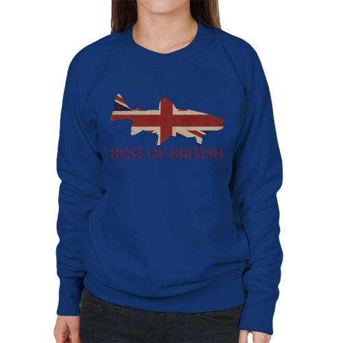 Best Of British Union Jack Fish Women's Sweatshirt