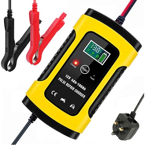 5A/12V Battery Charger & Maintainer, with LCD Screen