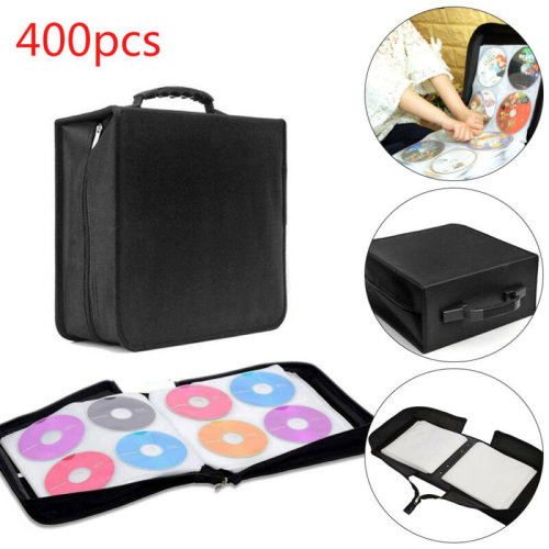 400 Sleeve CD DVD Blu Ray Disc Carry Case Holder Bag Wallet Protector