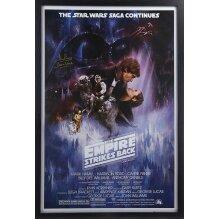 Framed Dave Prowse Darth Vader Empire Strikes Back signed poster  COA