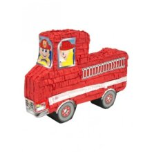 Red Fire Engine Pinata Party Decoration - Kids Childs Adults Birthday Game - Kids Childs Adults Red Fire Engine Pinata Birthday Party Game Decoration