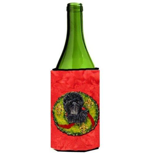 Affenpinscher Cristmas Wreath Wine bottle sleeve Hugger