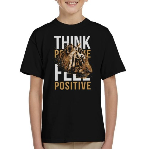 Tiger Think Feel Positive Kid's T-Shirt
