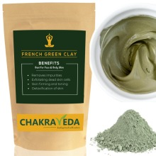 Pure Natural French Green Clay, Best for Skin, 100g by ChakraVeda