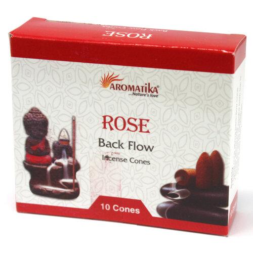 Aromatica Backflow Incense Cones - Rose
