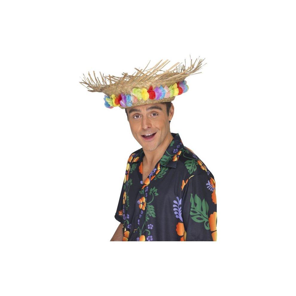 Hawaiian Straws Adult Unisex Smiffys Fancy Dress Costume Accessory