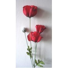 Artificial Small Silk Poppy Single Stem
