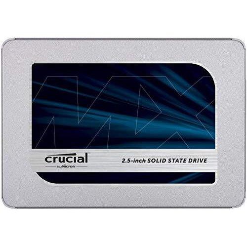 Crucial MX500 250 GB CT250MX500SSD1(Z)-Up to 560 MB/s (3D NAND, SATA, 2.5 Inch, Internal SSD)